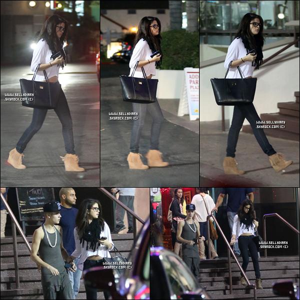 . . 16.11.12 :  Selena été vue quittant le restaurant «  Yamato » où elle à dîner avec Justin à Los Angles.  . .