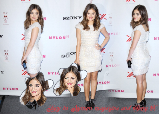 Lucy in Nylon magazine and Sony X party