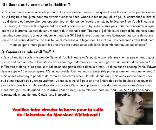 THE VERSION INTERVIEW... FIONN WHITEHEAD ON NEW ITV DRAMA, HIM. En exclusivité je vous offre la toute première vrai interview de l'acteur Fionn Whitehead à propos de HIM.