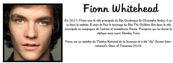 Le site Curtis Brown présente Fionn Whitehead ! Vous pouvez retrouver tout l'article mais en anglais sur ce lien : Curtis Brown FW.