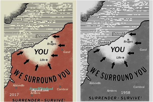 La carte qui a servi au premier film a été remasteurisé pour Dunkirk 2017.