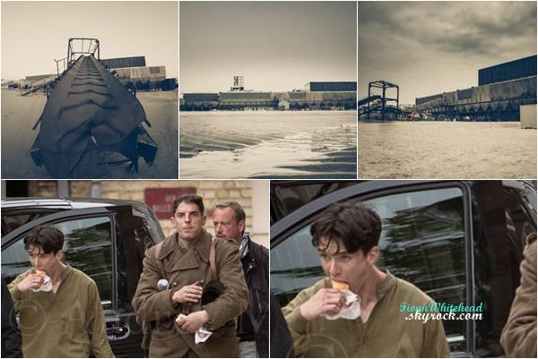 Nouvelles photos du set de Dunkirk ! Les journalistes ont pris en photo Fionn pendant sa pause de midi.