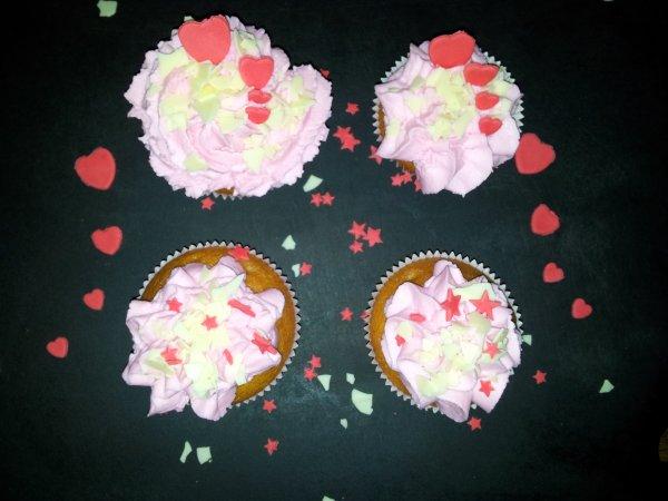 cupcakes framboises
