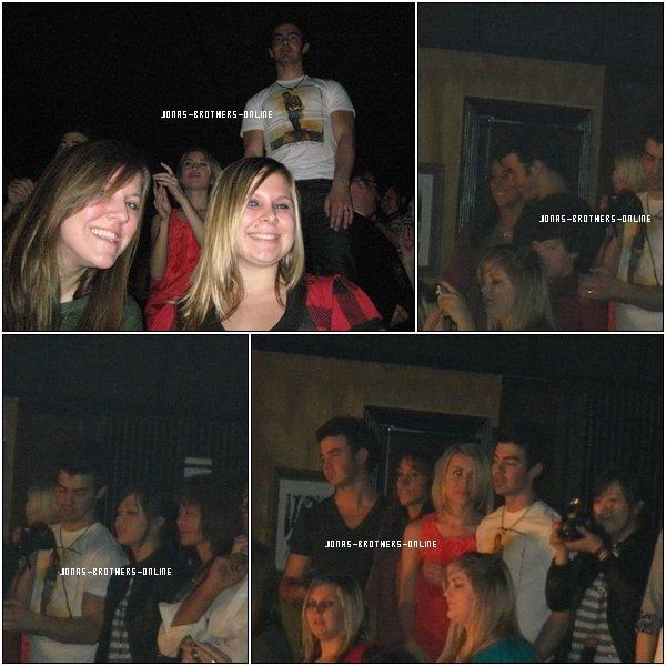 _ 03.01.2010   Joe, Chelsea Staub, Kevin, Danielle & Maya étaient au concert de Nick J. à Dallas :