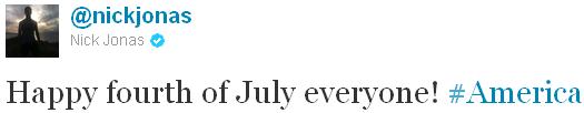 → 04.07.2011 | Joe, Mikey & Nick souhaite une bonne fête d'indépendance aux USA...