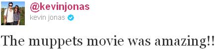 _ 24.11.2011   Kevin, Danielle & Nick sont allés voir les Muppets_au cinéma :
