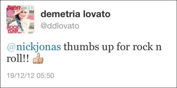 → 18.12.2012 | Nick était en studio avec Demi Lovato hier soir à Los Angeles :