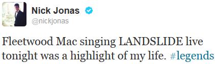 _ 22.06.2013 | Nick s'est rendu au concert de Fleetwood Mac au Jones Beach Theater_:.