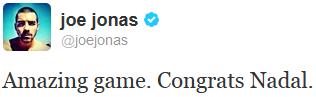_ 09.09.2013 | Joe est allé voir la finale homme de l'US Open_avec Wilmer Valderrama :_