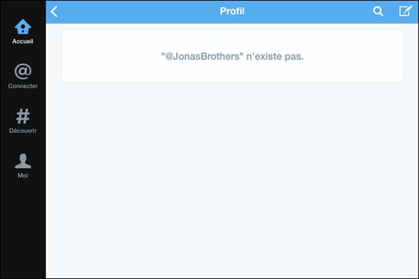 _ 16.10.2013   Les Jonas Brothers ont supprimé leur compte twitter... :