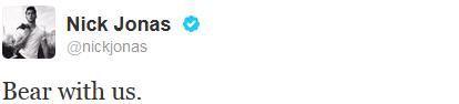 _ 22.10.2013 | Deux des Jonas Brothers ont enfin rompu leur silence et tweeté :_
