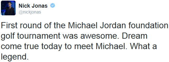 _ 05.04.2014   Nick a participé au 13ème Annual Michael Jordan Celebrity Golf Tournament_à Las Vegas :
