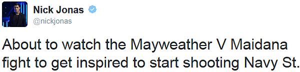 _ 03.05.2014 | Joe était au match de boxe opposant Mayweather à Maidana au MGM Grand Garden Arena_: