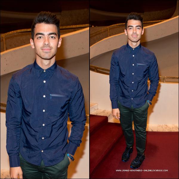 _ 07.09.2014 | Joe s'est rendu au défilé de mode de la marque Opening Ceremony_au Lincoln Center_:_