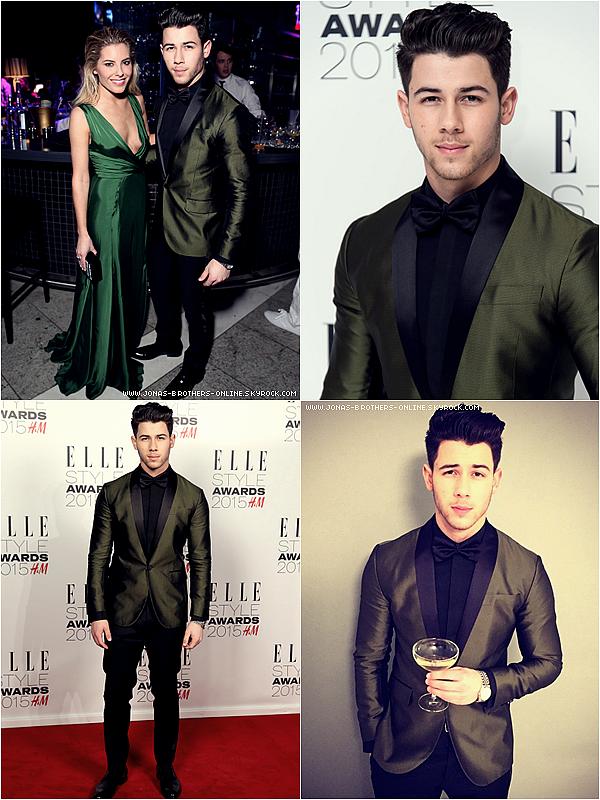 _ 24.02.2015 | Nick était aux Elle Style Awards_de Londres :