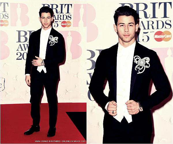 _ 24.02.2015 | Nick s'est rendu aux Brit Awards_de Londres :