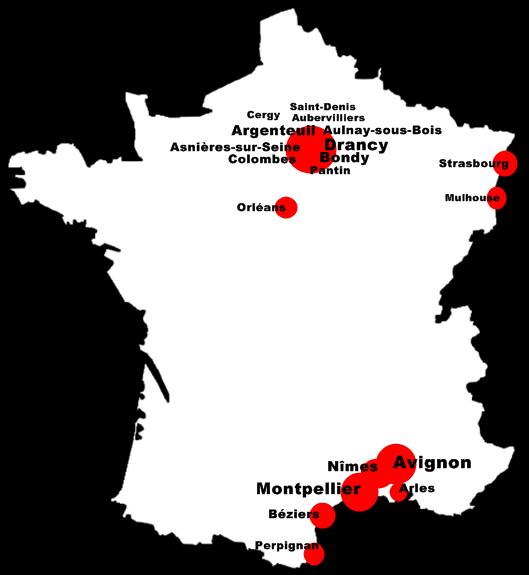 Les villes française avec le plus de Marocains