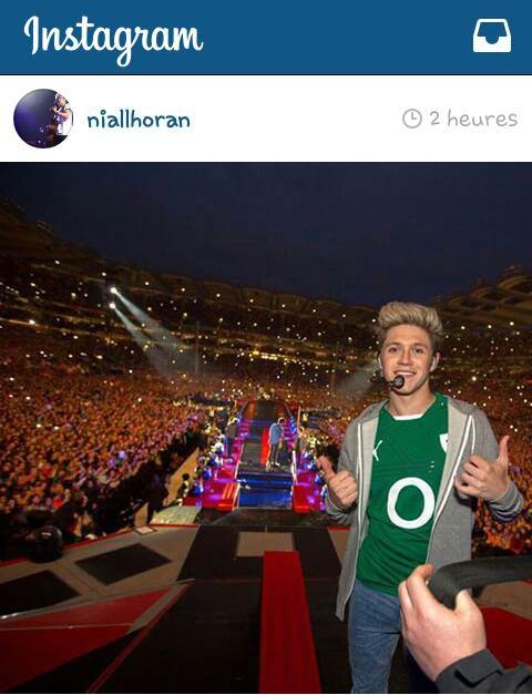 Niall à poster cette photo de lui sur insta !