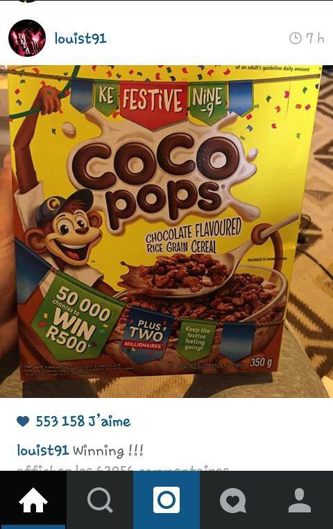 Éhh vous devinerez jamais quoi...Louis a poster une photo sur instagram...oui oui ce n'est pas une blague!! X) Et pour finir il a mit à jour son profil ..oui aujourd'hui est un grand jour !! X)