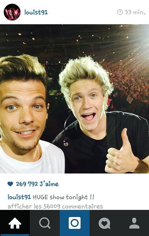Oui Louis génial !!! Selfie !!! :D 2 photos en 1 jour OMG :P