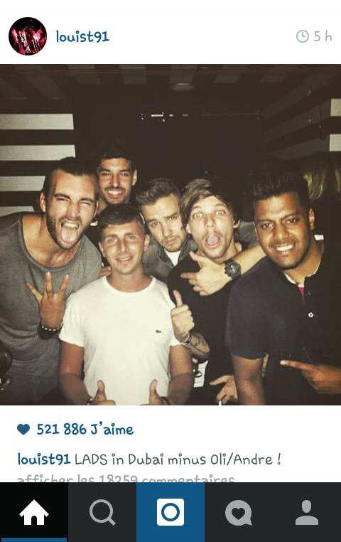 Louis à poster sur instagram c'est 2 photos !