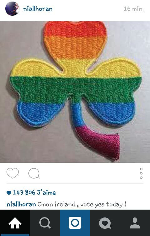 Niall sur instagram le 23/05/15 (je devais le poster avant le week-end mais je n'ai pas eu le temps )
