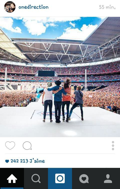 One Direction sur instagram ! 13/06/15