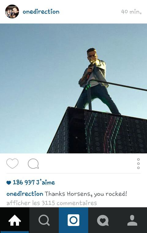 One Direction sur instagram ! :) 17/06/15