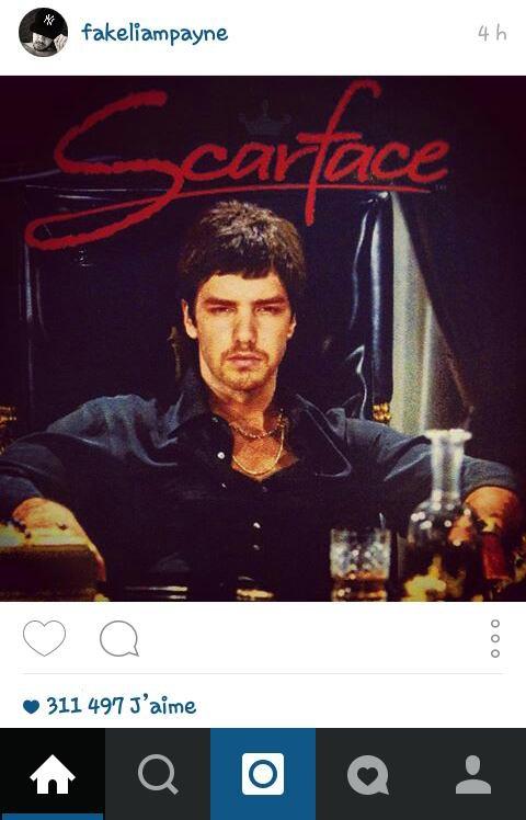 Liam et ses délires instagramien xD 07/07/15