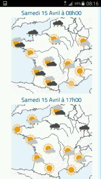 Un petit point sur la météo la veille du concours de Breteuil