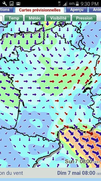 Un point météo pour le Fontenay du 7 mai