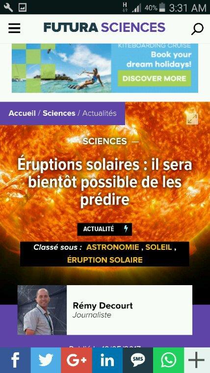 Éruptions solaires  et champs magnétiques