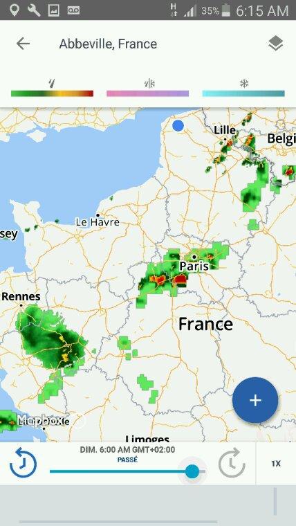 Observations météorologiques ce dimanche 28 mai