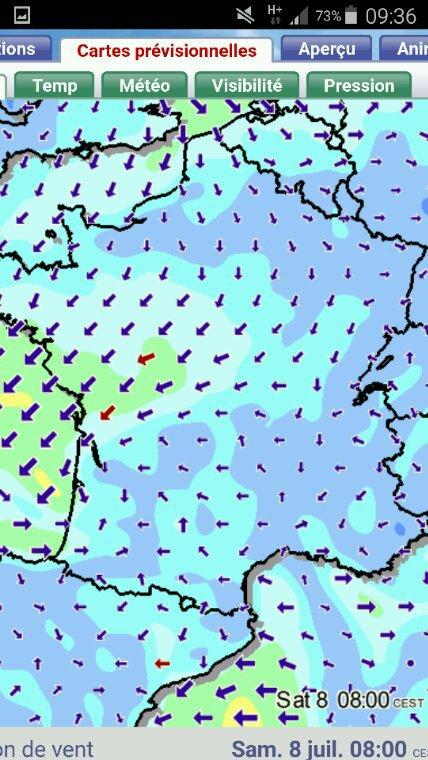 Des vents de Nord  et de Nord Est prévus pour ce samedi 8 juillet