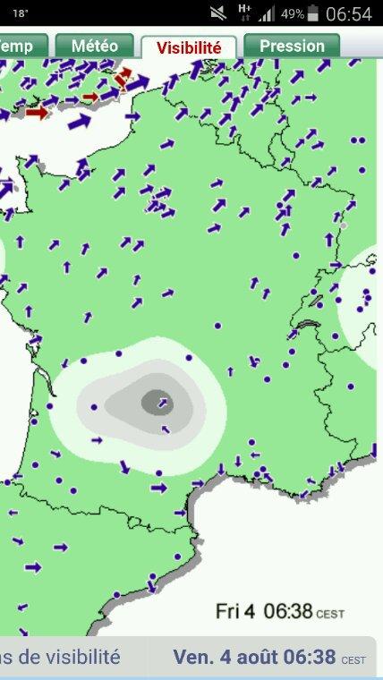 LACHER 7H00 Perpignan du 4 août  attention peut être quelques complications pour l'arrivée suite à une activité géomagnétique un peu agitée