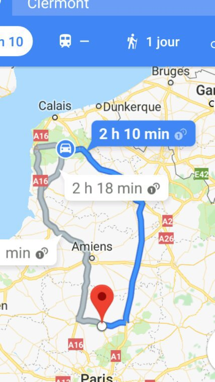 Samedi 14 avril 2018 direction CLERMONT 155kms