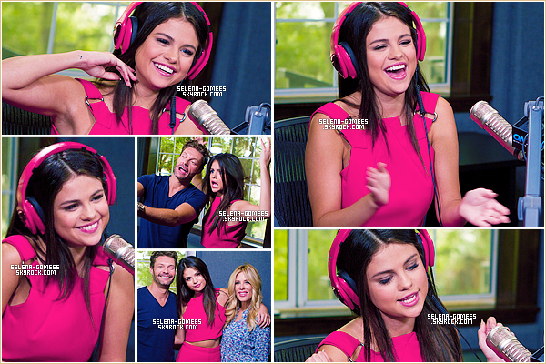 "10/09/2015 : Selena Gomez s'est rendue à la radio ""On Air with Ryan Seacrest"" dans Los Angeles."