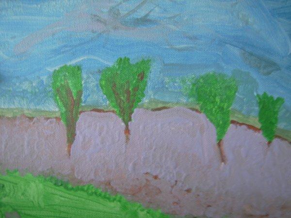 peinture route de lavande