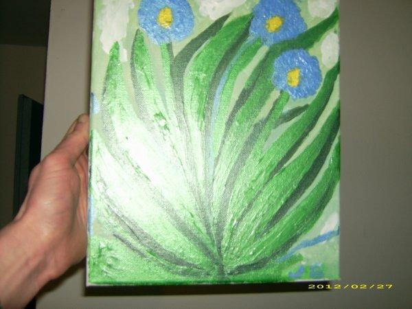 les fleur fait peinture