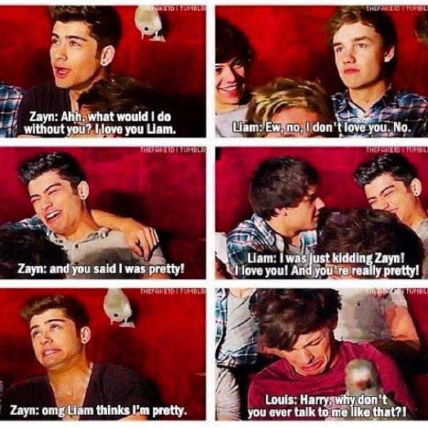 « I love you Liam » #Zayn