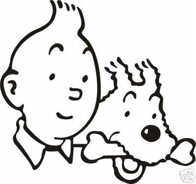 Tintin et milou international publicit - Coloriage de tintin ...