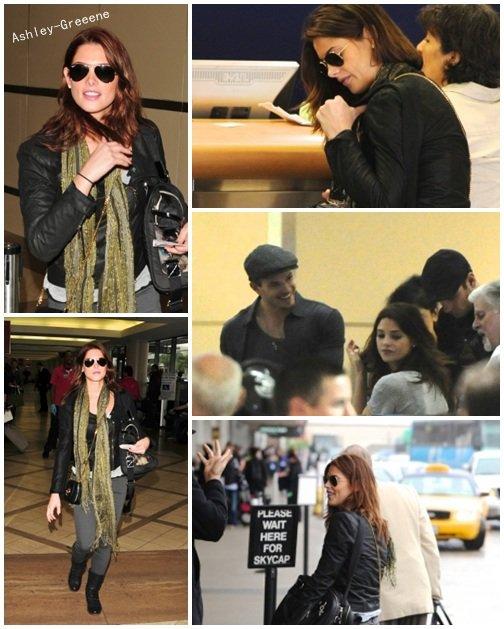 17 / 10 : Ash' à L.A.X. Elle etait accompagnée de Nikki et Kellan
