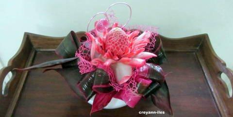 Ma composition florale réalisée pour le concours du magazine atelier floral n°50