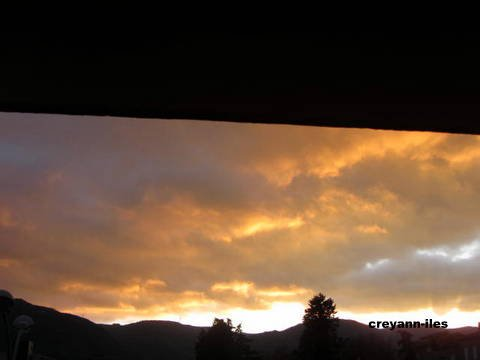 coucher de soleil à PRIVAS dans l'ardèche
