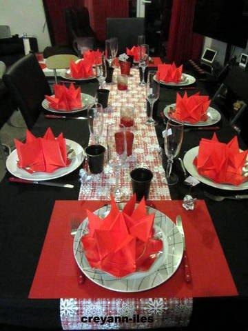 TABLE DU RÉVEILLON DE NOEL CHEZ MON FILS EN RÉGION PARISIENNE