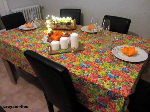 TABLE DU RÉVEILLON POUR LE JOUR DE L'AN CHEZ MA FILLE A PRIVAS(ARDÈCHE)