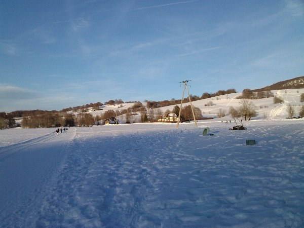 Un peu de soleil avec la neige, que c'est agréable