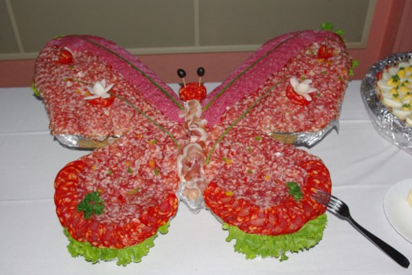Papillon de charcuterie la cuisine de jo l - Plateau de charcuterie pour 40 personnes ...