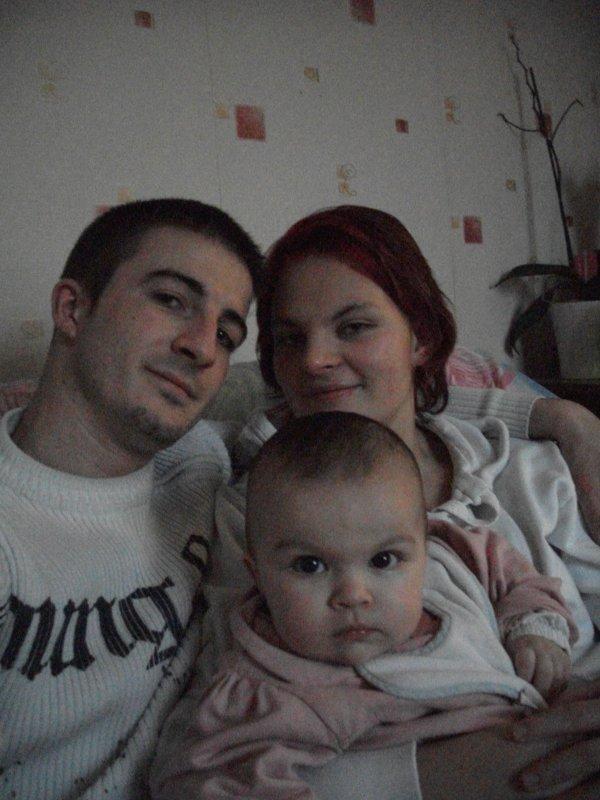 Mon amour et moi avec notre filleulle