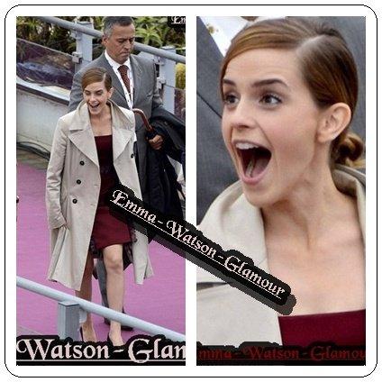 Coucou je suis une amie de la gérante du blog car comme vous le savez elle es a Cannes et suis se soir la belle Emma! :) Donc comme elle me l'a demandée je vous met les news ! Photocall de The Bling Ring et l'arrivée d'Emma au photocall :)